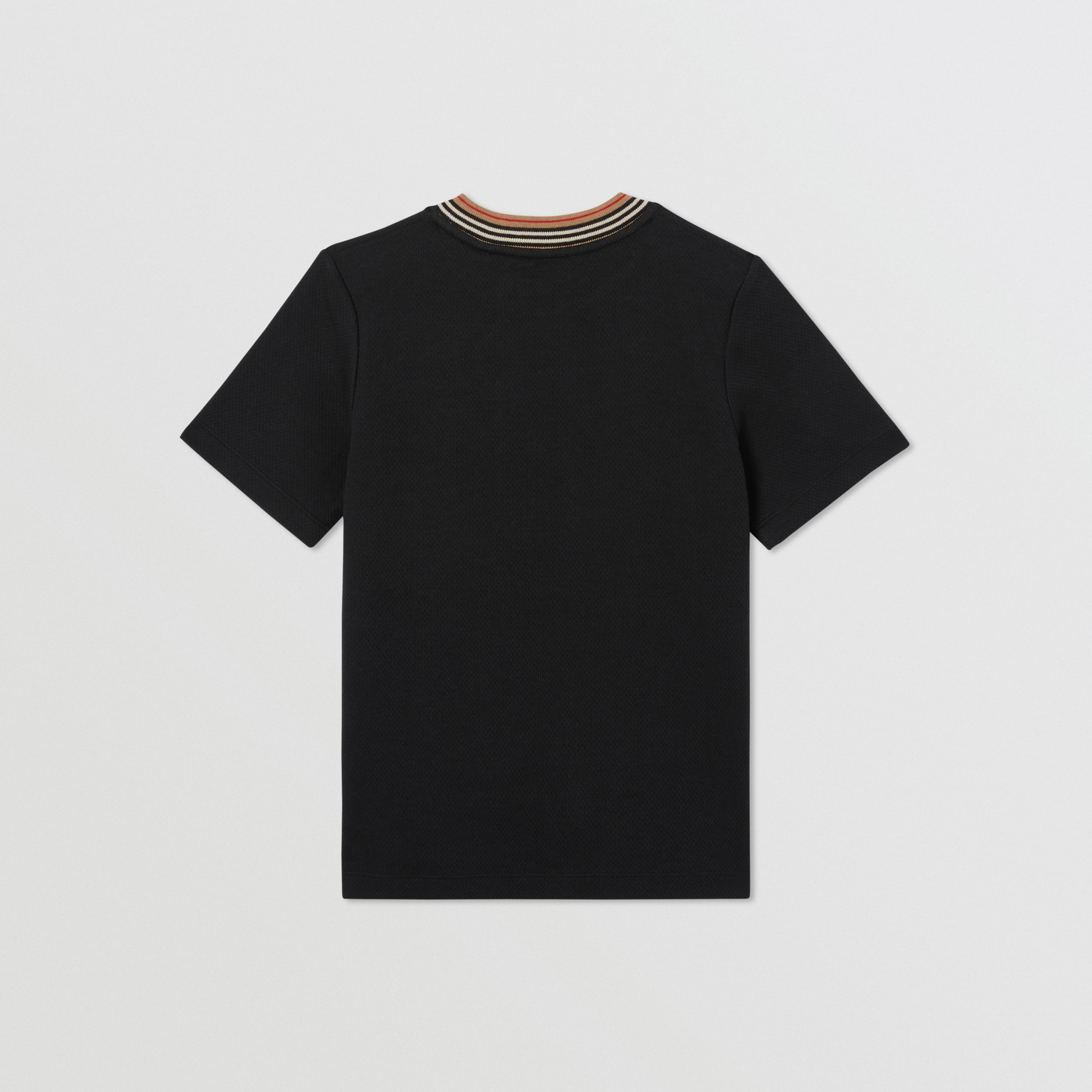 Contrast Logo Graphic Jersey Mesh T-shirt in Black | Burberry - 4