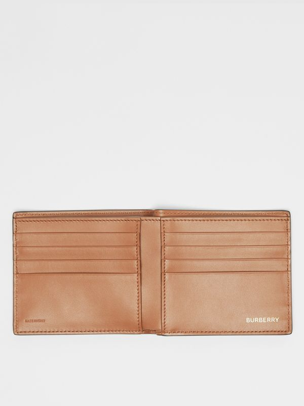 Monogram Motif Leather International Bifold Wallet in Black - Men | Burberry United Kingdom - cell image 2