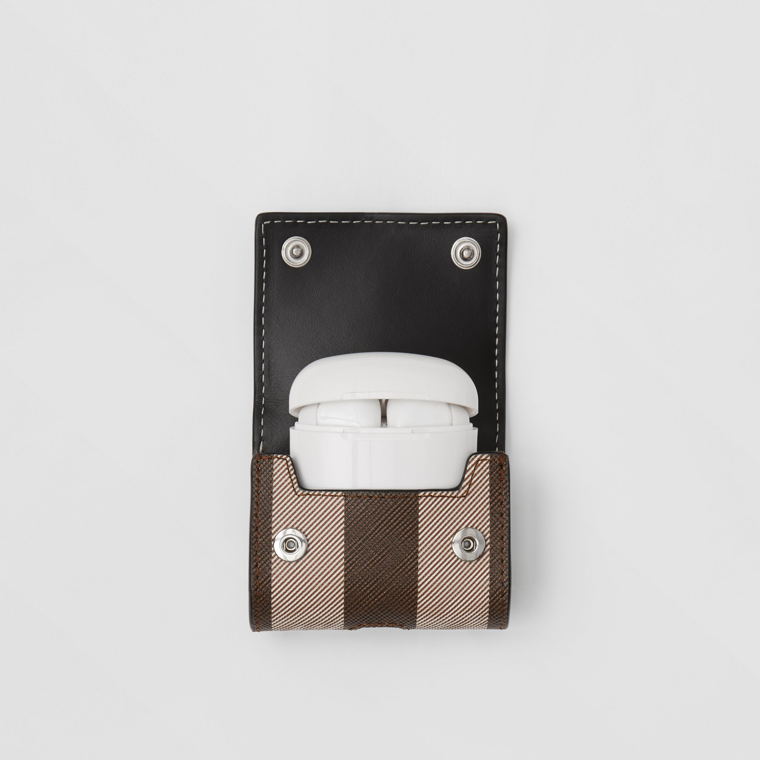 Check E-canvas AirPods Pro Case in Dark Birch Brown | Burberry - 4