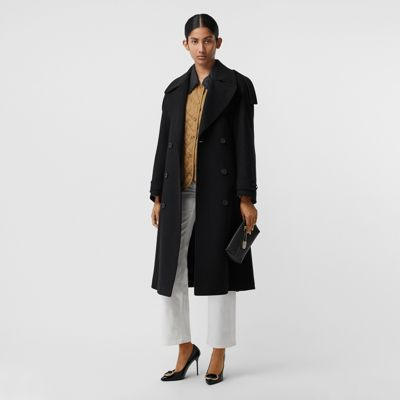 Wool Cashmere Double Breasted Coat by Burberry