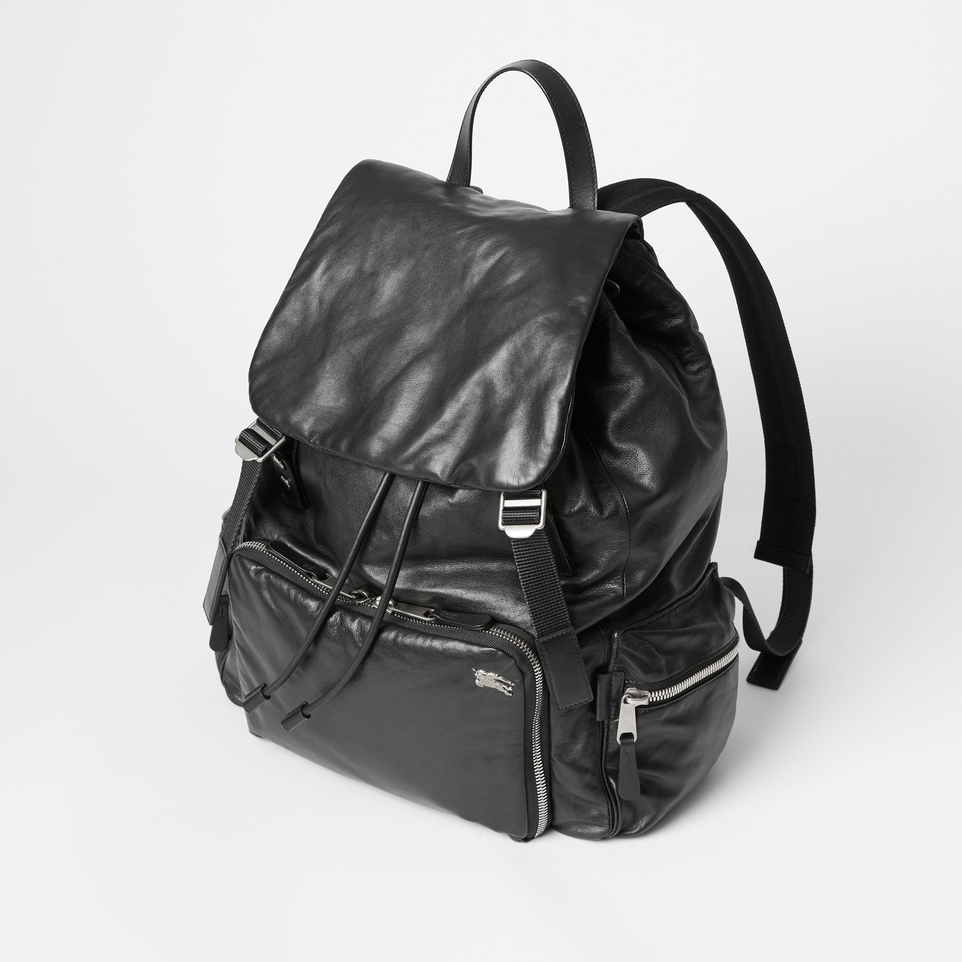 Sac The Rucksack extra-large en cuir nappa (Noir) - Homme | Burberry - photo de la galerie 4