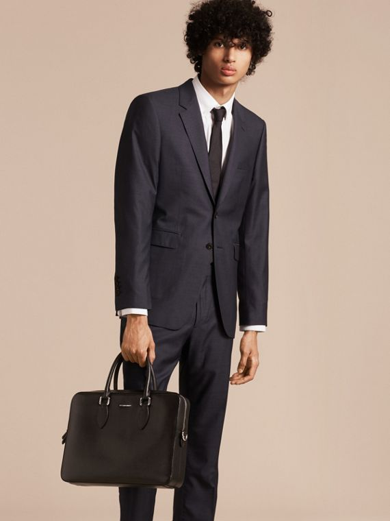 London Leather Briefcase in Black - Men | Burberry - cell image 2
