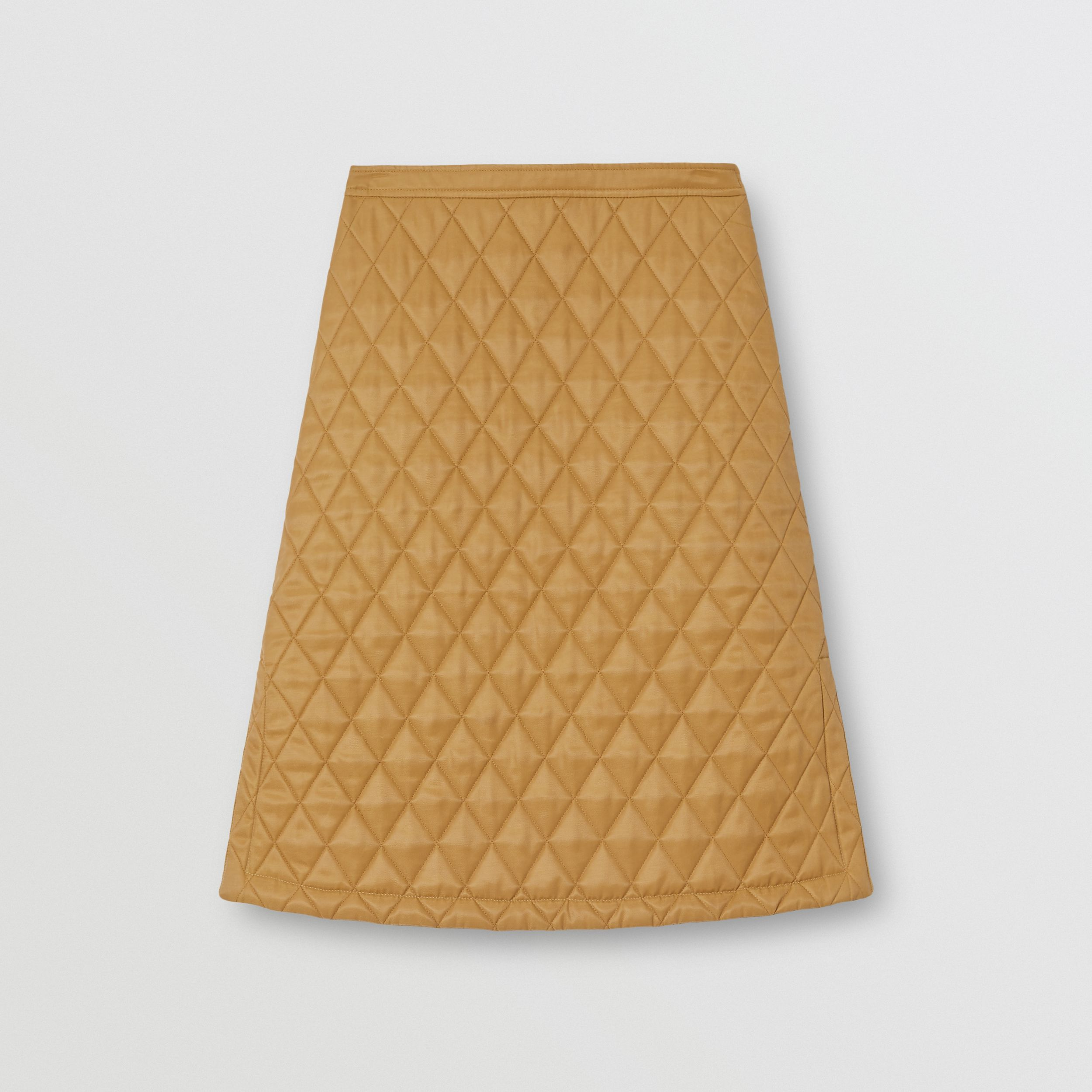Diamond Quilted Twill A-line Skirt in Camel - Women | Burberry - 4