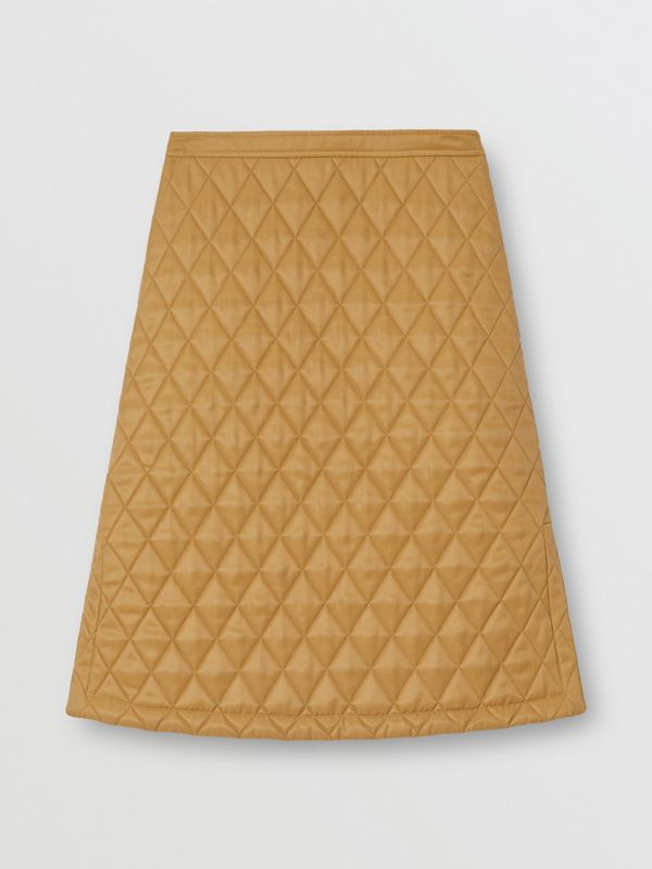 Diamond Quilted Twill A-line Skirt in Camel | Burberry United Kingdom - cell image 3