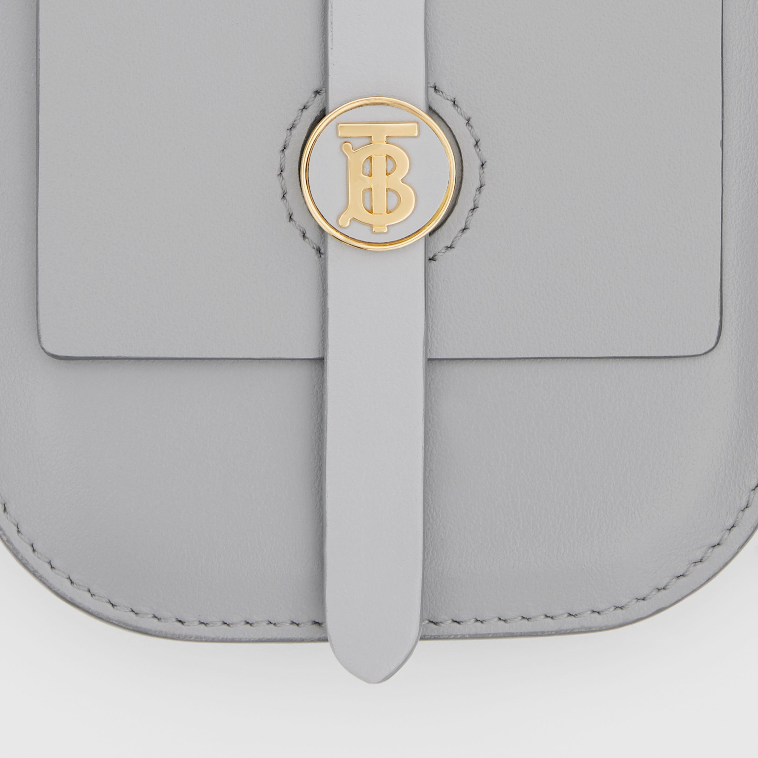 Belted Grainy Leather Anne Clutch in Cloud Grey | Burberry - 2