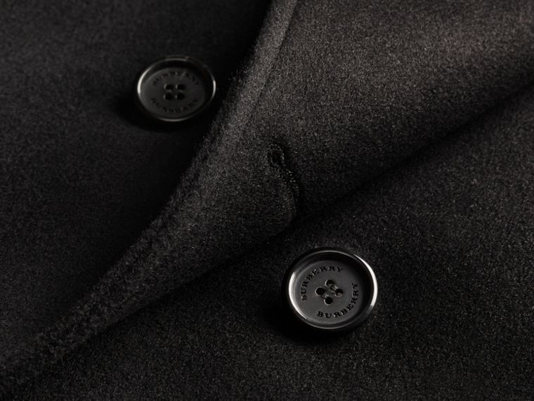 Black Wool Cashmere Trench Coat Black - cell image 1