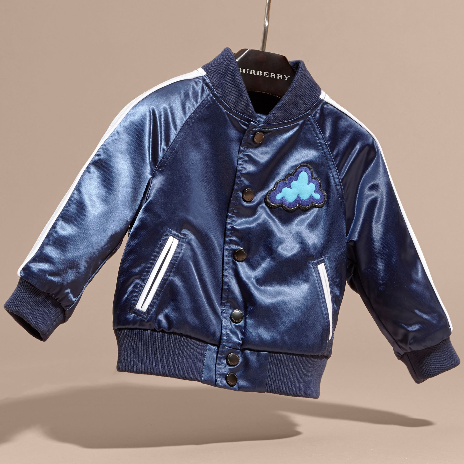 Weather Appliqué Satin Bomber Jacket - gallery image 3