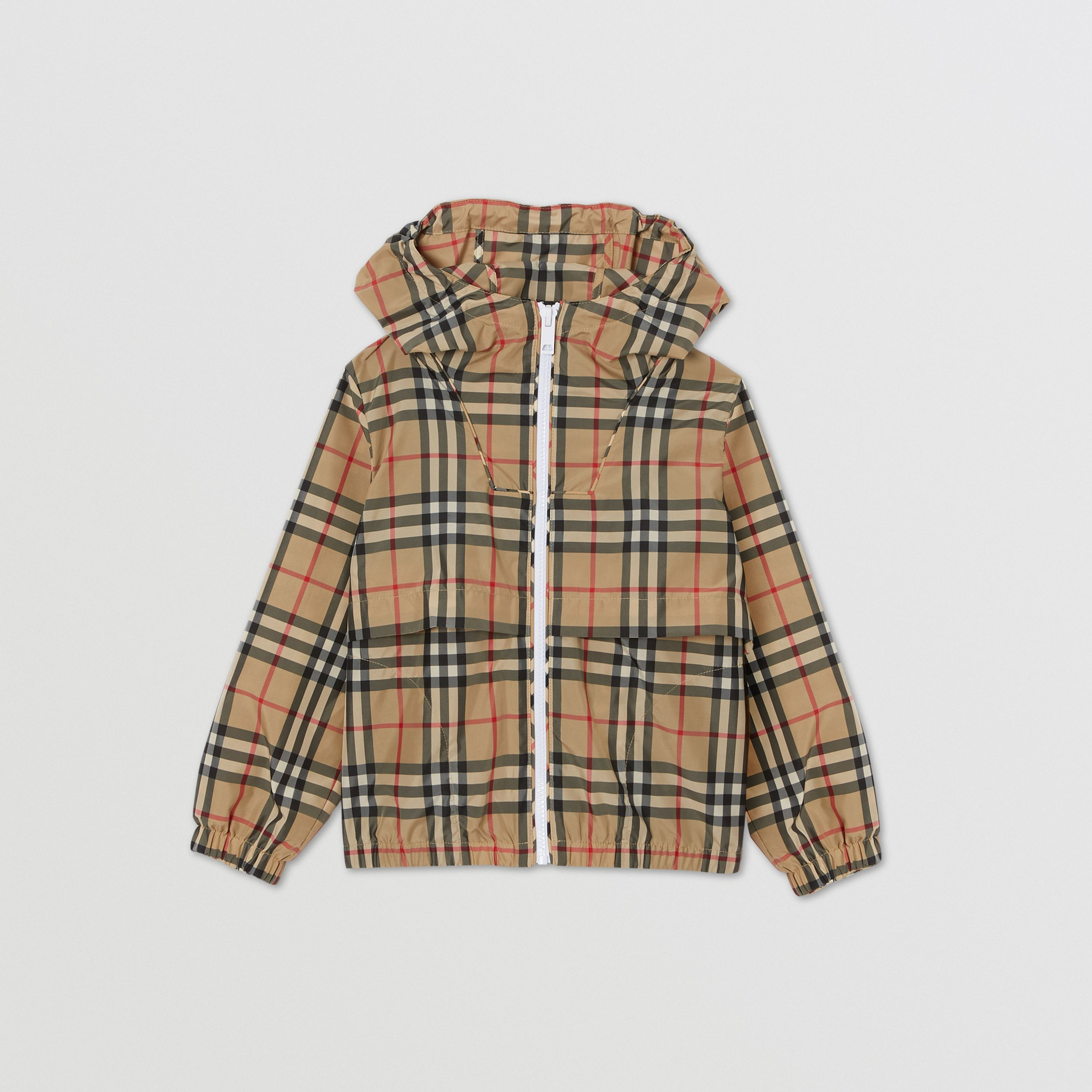 Vintage Check Lightweight Hooded Jacket in Archive Beige | Burberry - 1