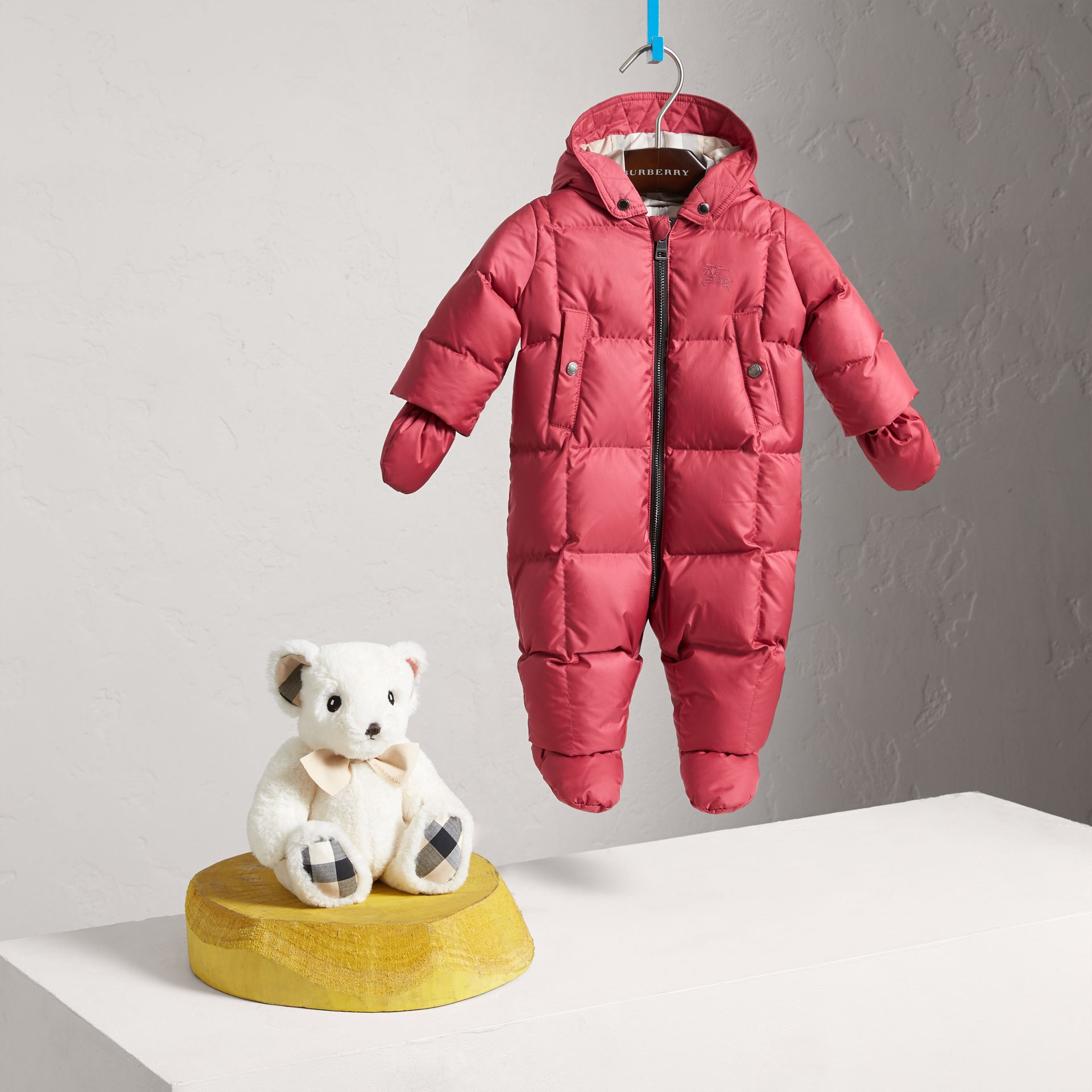 Down-filled Puffer Suit in Peony Rose | Burberry - gallery image 0