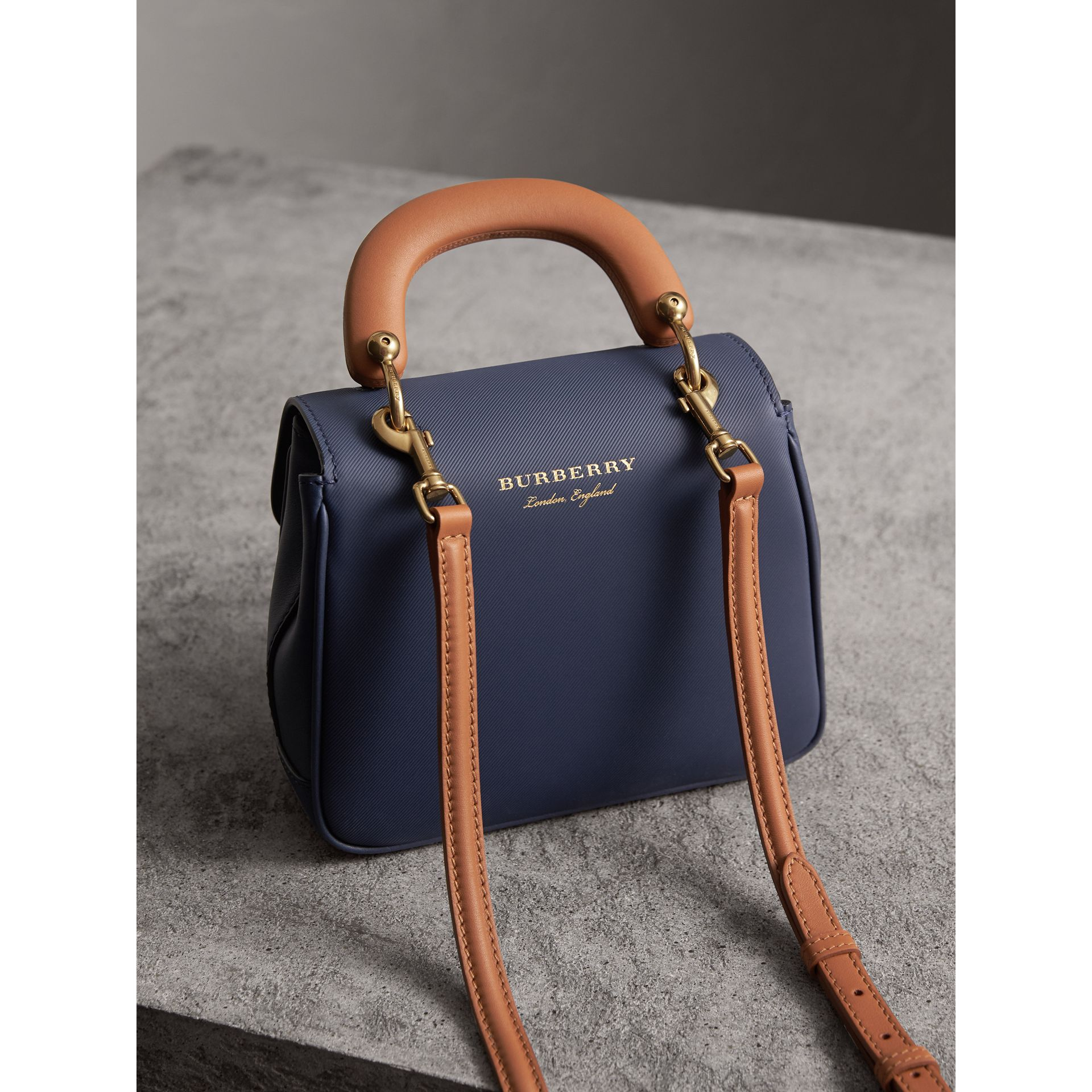 The Small DK88 Top Handle Bag in Ink Blue - Women | Burberry - gallery image 4