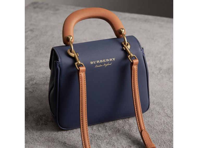 The Small DK88 Top Handle Bag in Ink Blue - Women | Burberry - cell image 4
