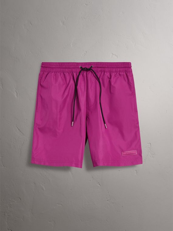 Drawcord Swim Shorts in Bright Fuchsia - Men | Burberry - cell image 3
