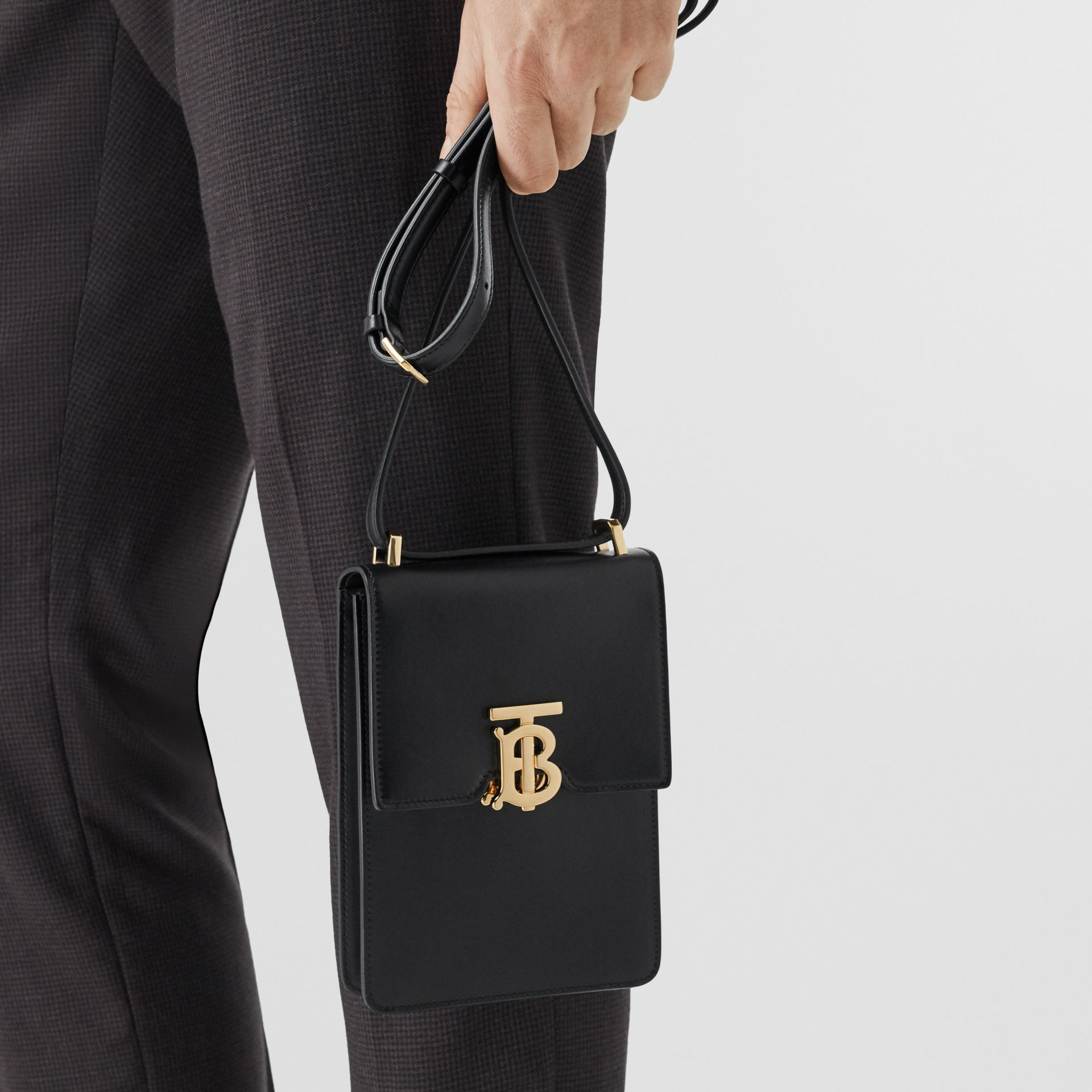 Leather Robin Bag in Black | Burberry Australia - gallery image 7