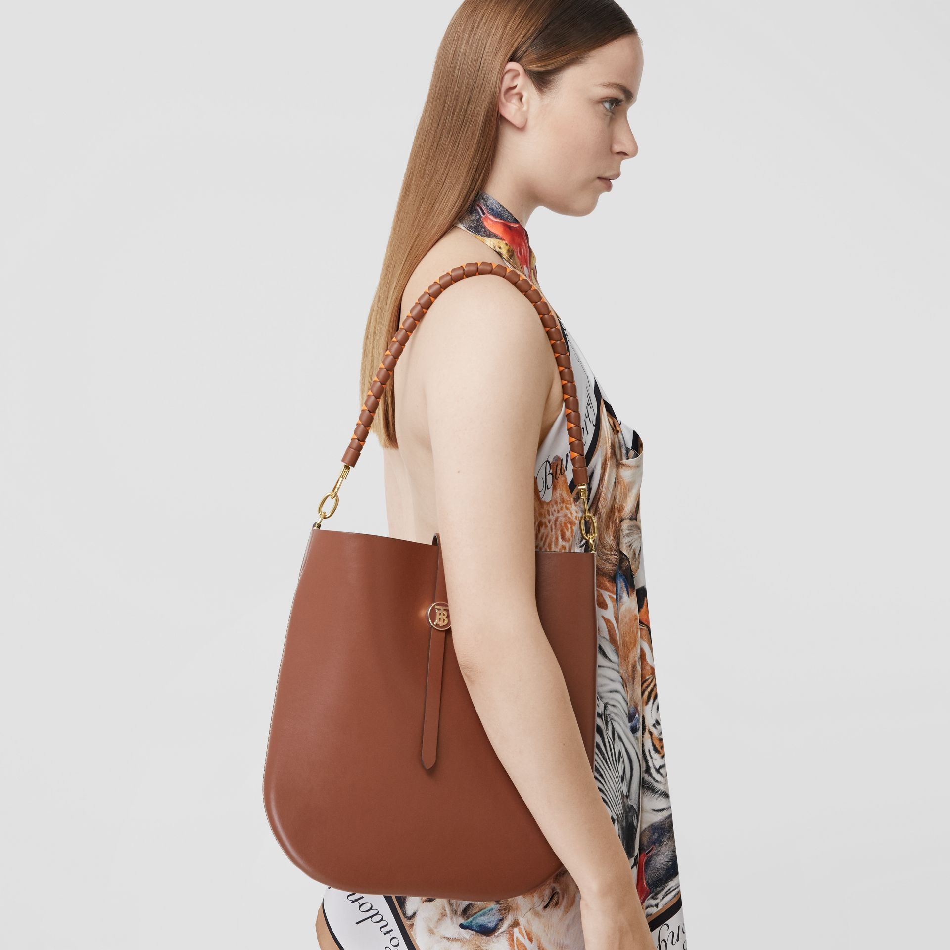 Leather Anne Bag in Tan - Women | Burberry Australia - gallery image 8