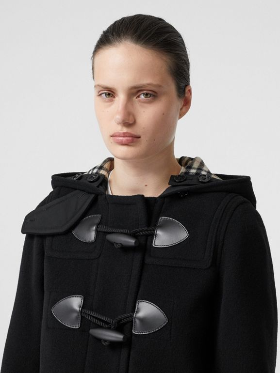 Wool Cashmere Blend Duffle Coat in Black - Women | Burberry - cell image 1