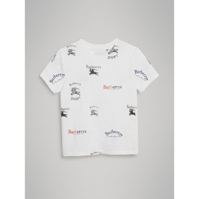 Archive Logo Print Jersey T Shirt by Burberry