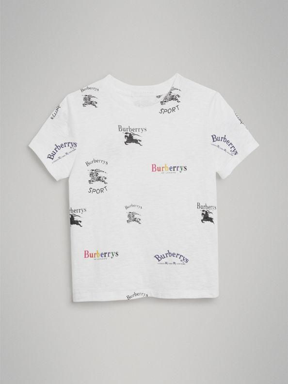 Archive Logo Print Jersey T-shirt in White