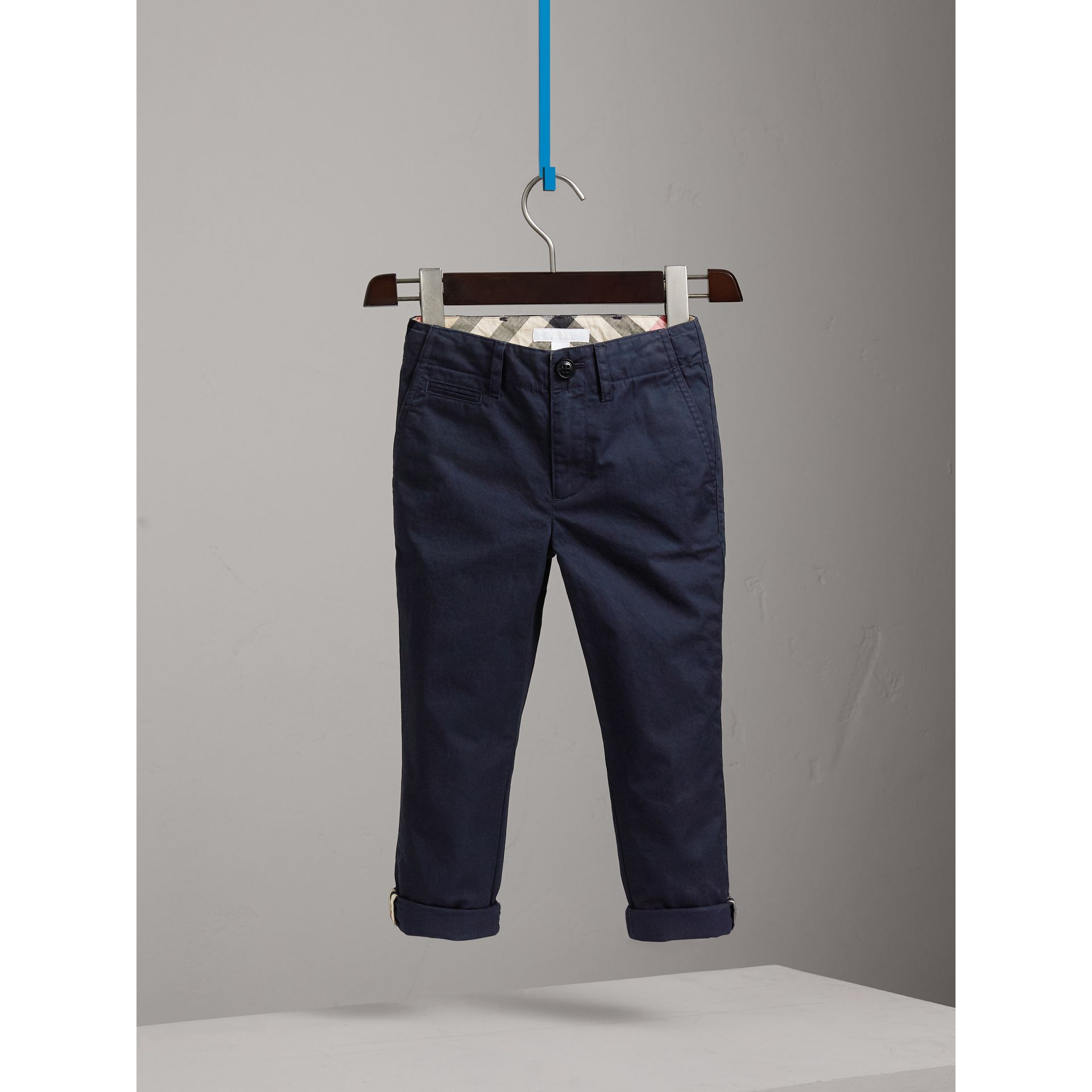 Cotton Chinos in Ink - Boy | Burberry United Kingdom - gallery image 0