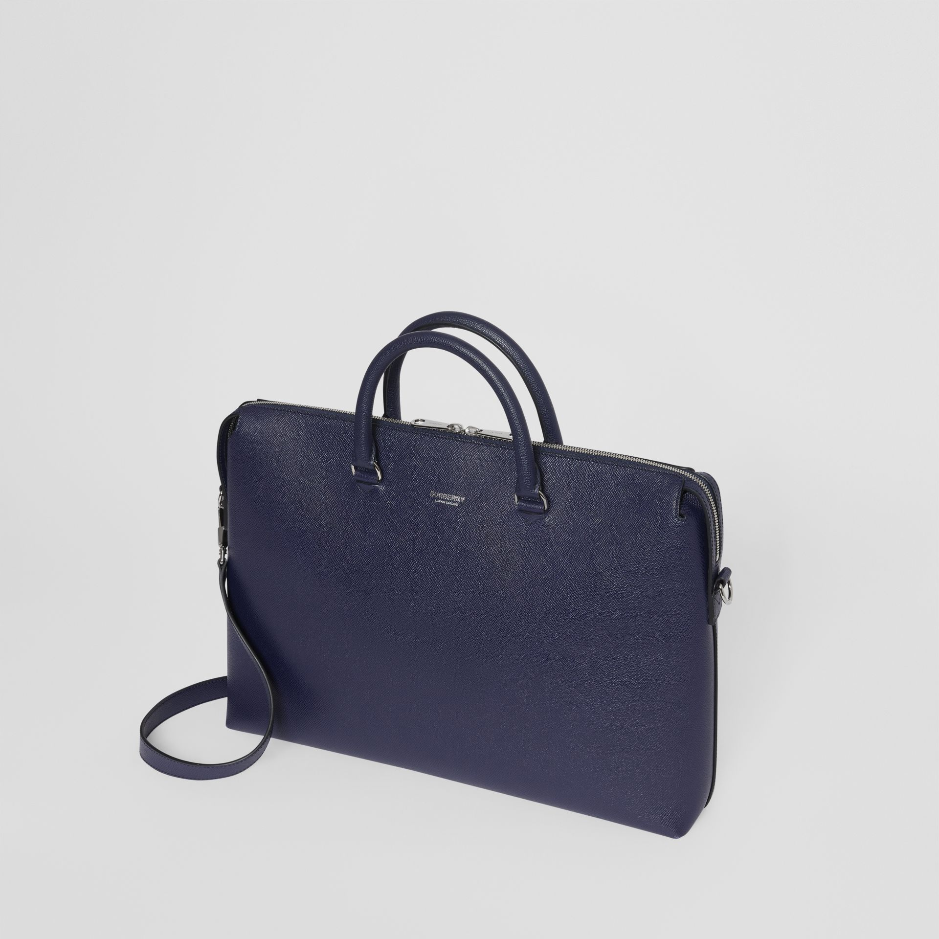 Triple Stud Grainy Leather Briefcase in Regency Blue - Men | Burberry - gallery image 3