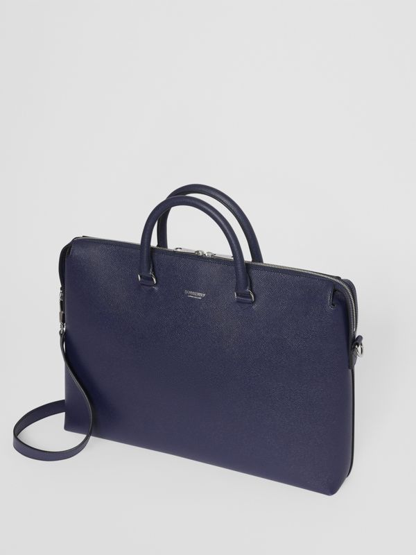 Triple Stud Grainy Leather Briefcase in Regency Blue - Men | Burberry - cell image 3