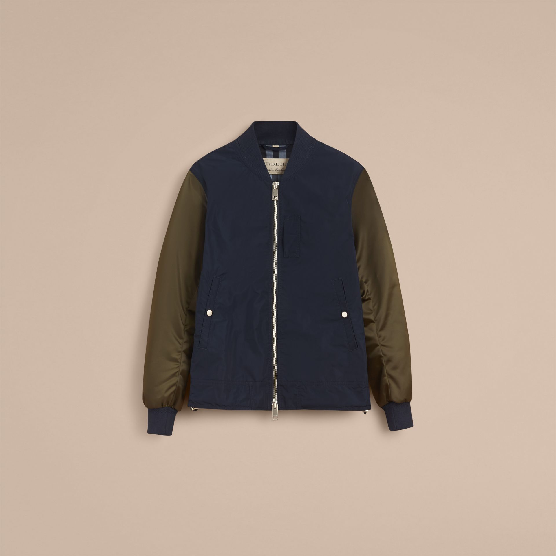 Two-tone Shape-memory Taffeta Bomber Jacket - Men | Burberry - gallery image 4