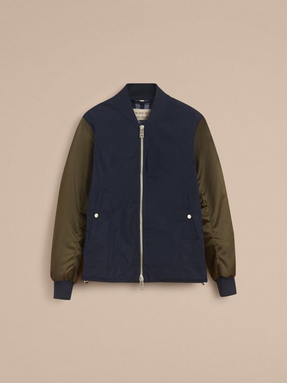 Two-tone Shape-memory Taffeta Bomber Jacket in Ink - Men | Burberry - cell image 3