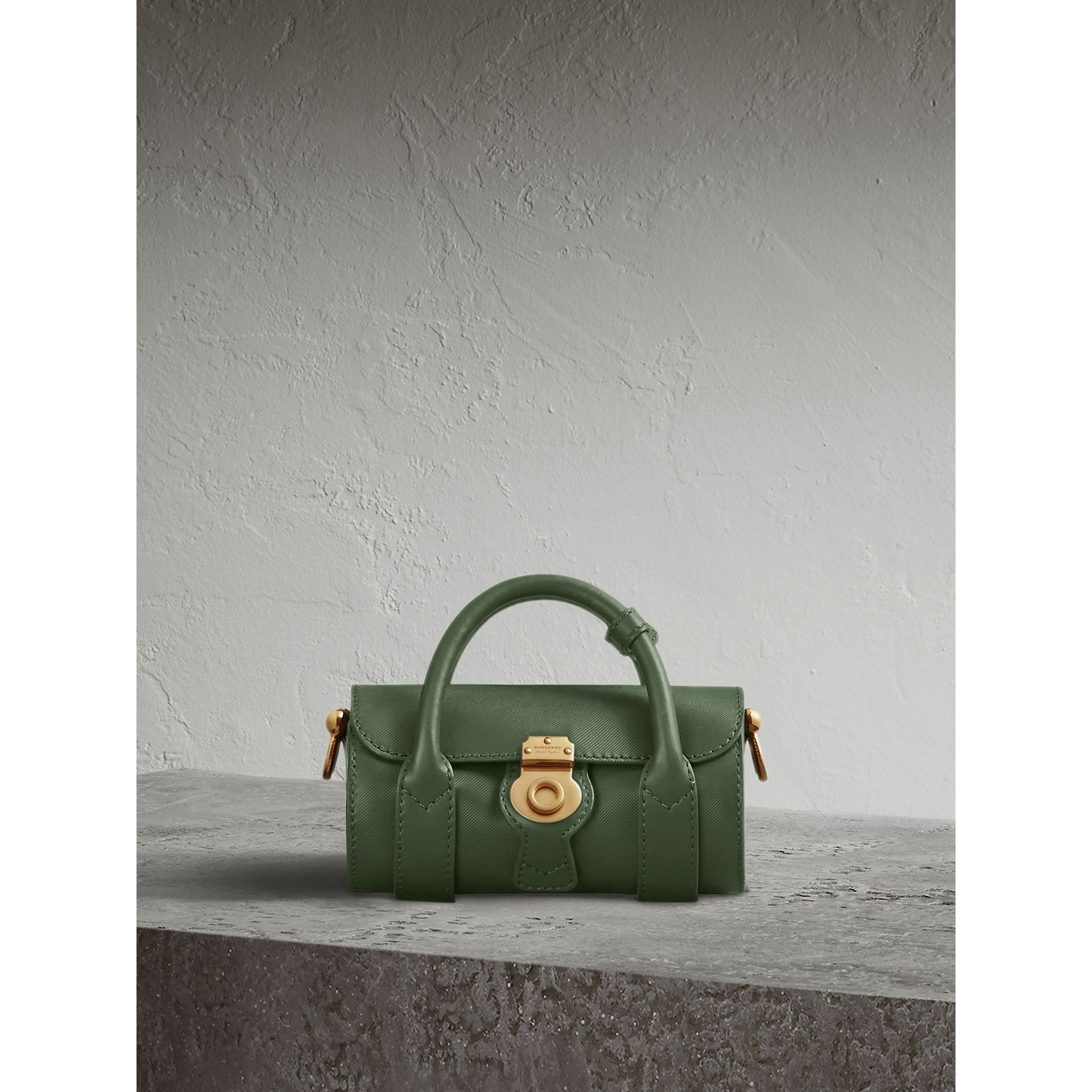 The Mini DK88 Barrel Bag in Dark Forest Green - Women | Burberry - gallery image 0