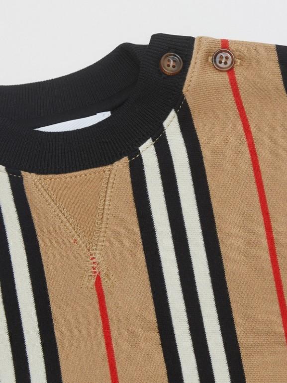 Icon Stripe Cotton Sweatshirt in Archive Beige - Children | Burberry United Kingdom - cell image 1
