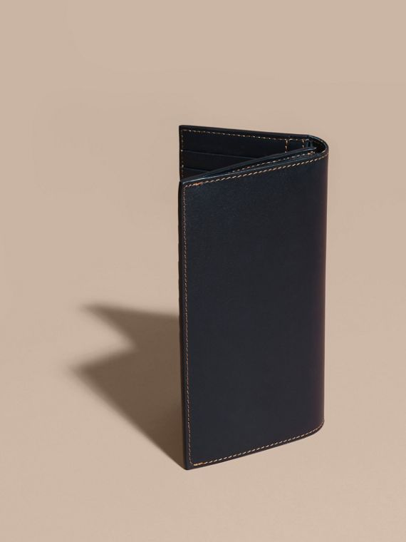 Dark navy Smooth Leather Continental Wallet Dark Navy - cell image 3
