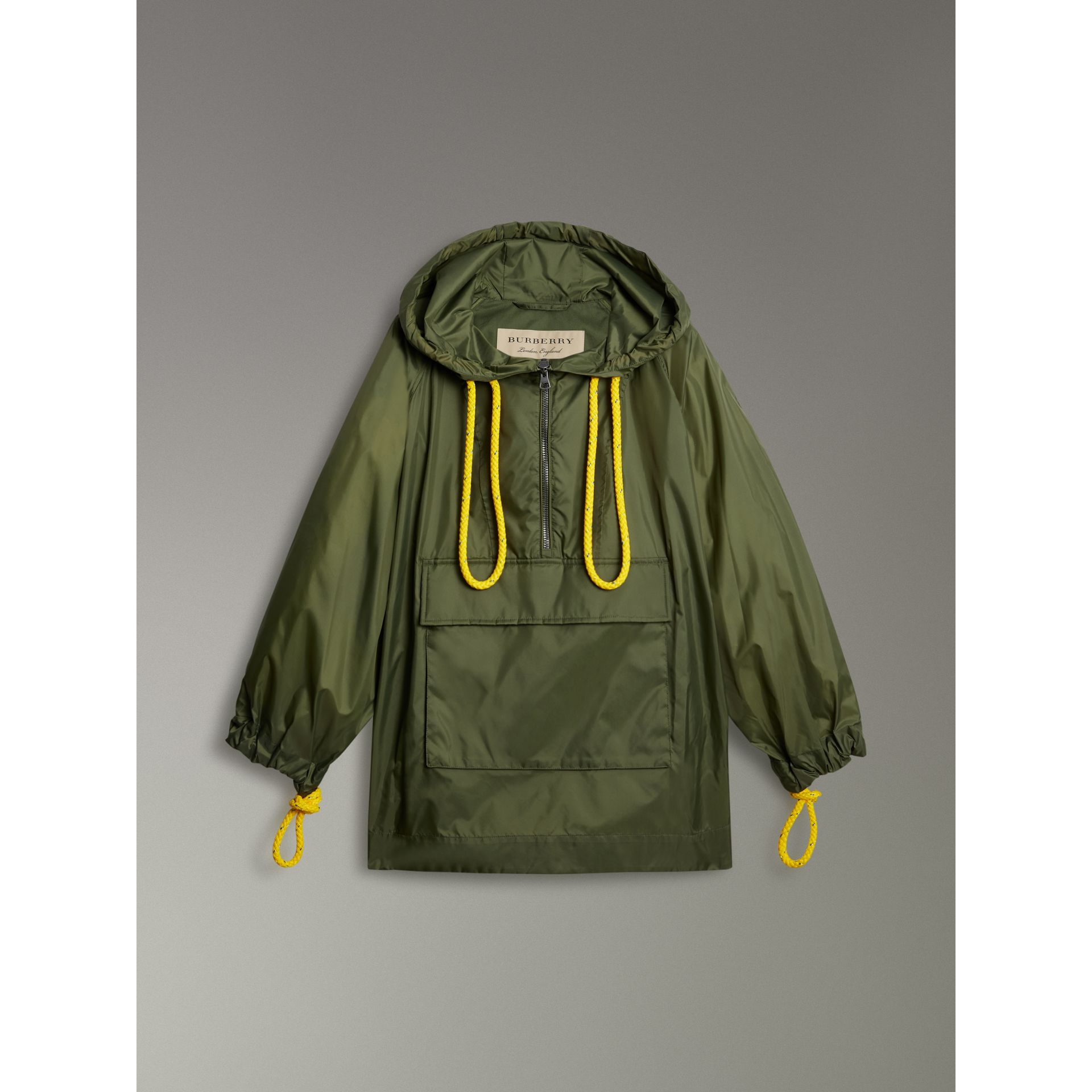 Oversized Nylon Cagoule in Light Olive - Women | Burberry - gallery image 3