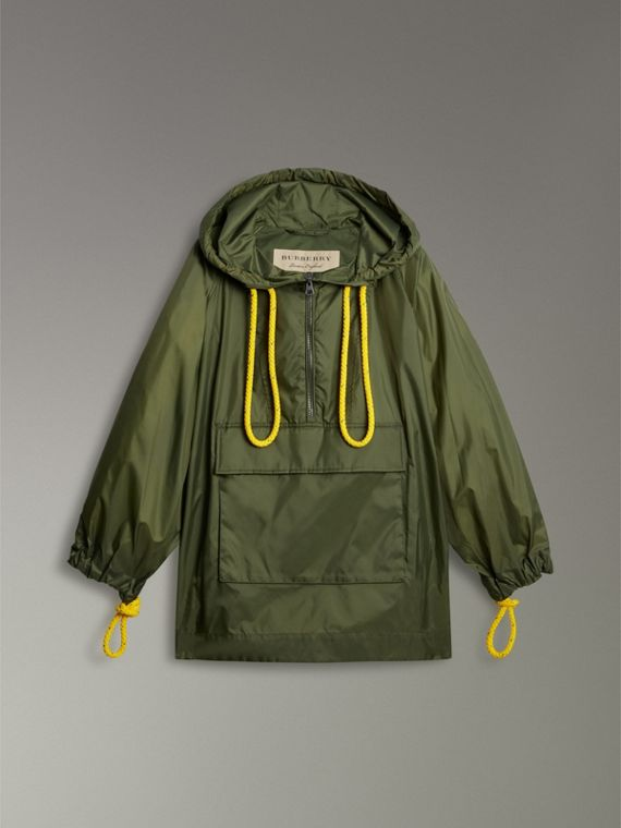 Oversized Nylon Cagoule in Light Olive - Women | Burberry - cell image 3