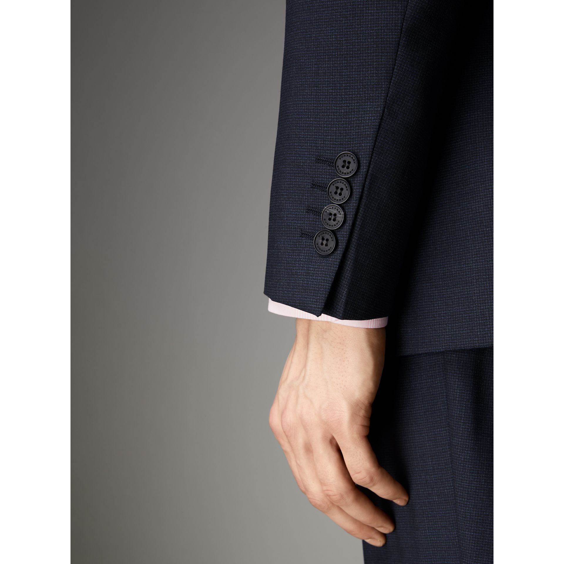 Modern Fit Wool Suit in Navy - Men | Burberry - gallery image 4