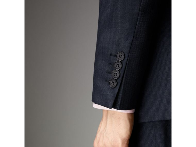 Modern Fit Wool Half-canvas Suit in Navy - Men | Burberry - cell image 4