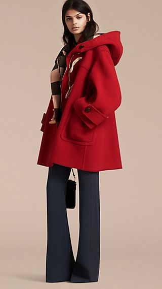 Double-faced Technical Wool Duffle Coat