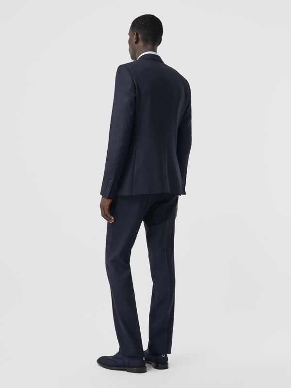 English Fit Puppytooth Check Wool Suit in Dark Navy - Men | Burberry - cell image 2
