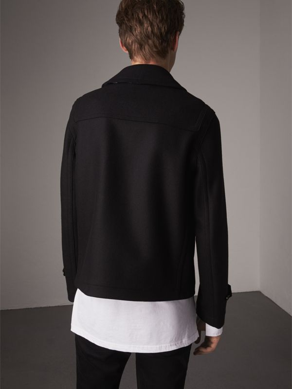 Wool Blend Duffle Jacket in Black - Men | Burberry - cell image 2