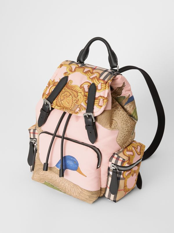 Zaino The Rucksack medio con motivi d'archivio (Nero) - Donna | Burberry - cell image 3