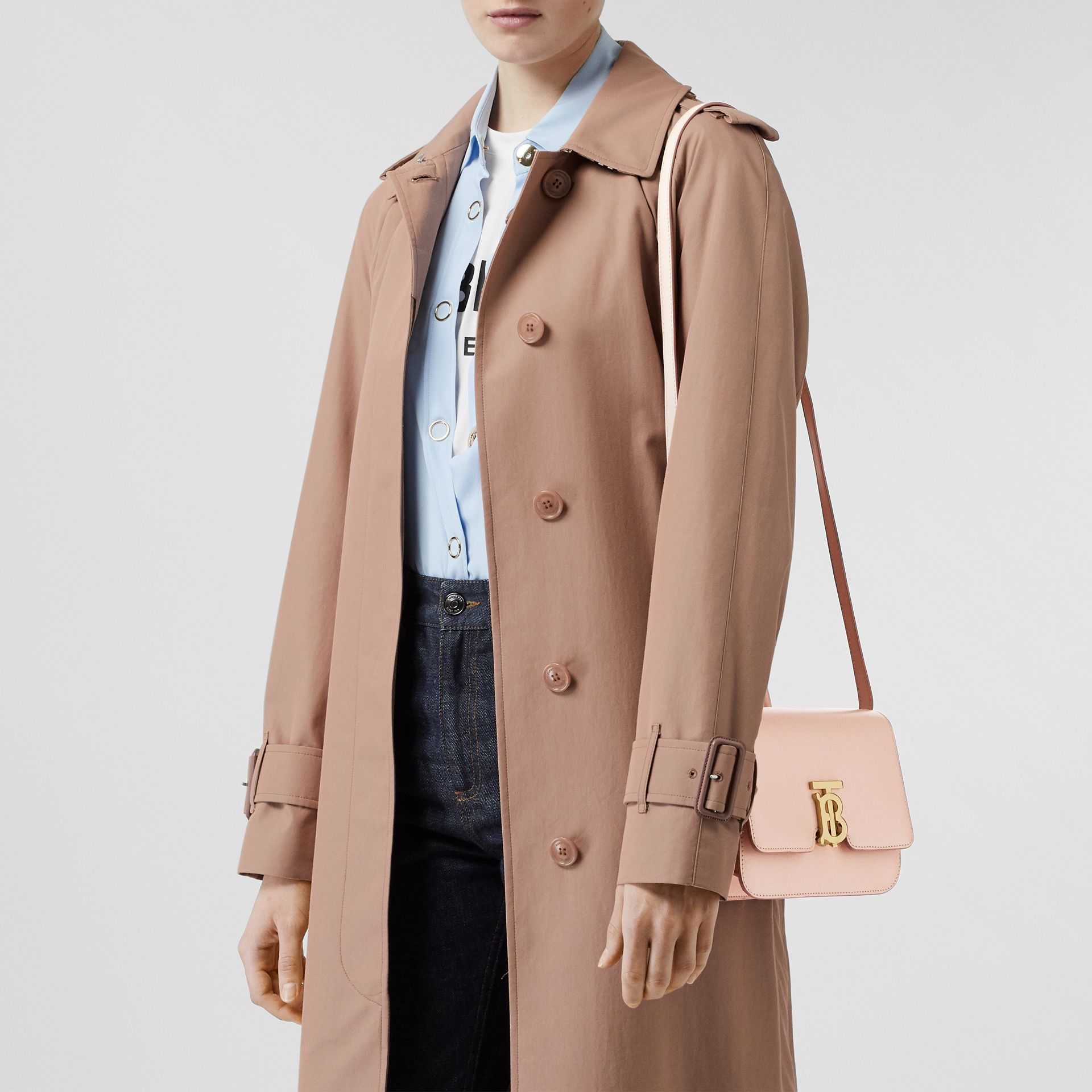 Small Leather TB Bag in Rose Beige - Women | Burberry - gallery image 2