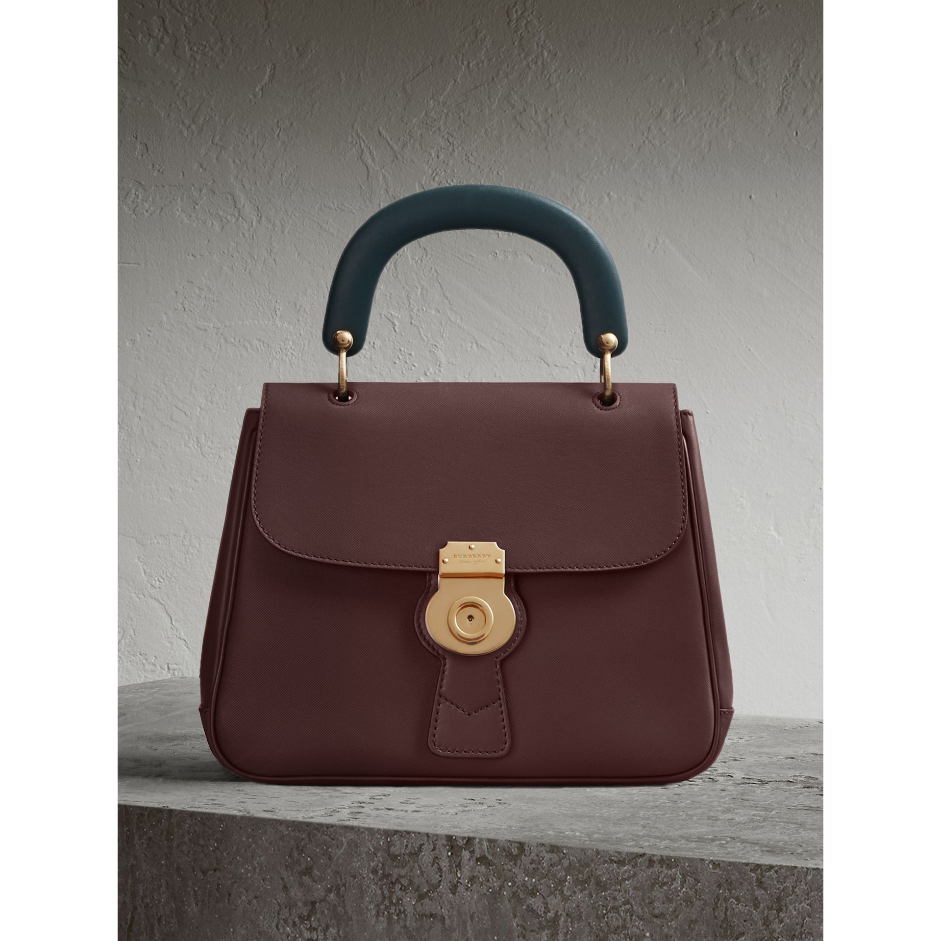 The Medium DK88 Top Handle Bag in Dark Chocolate - Women | Burberry - gallery image 1