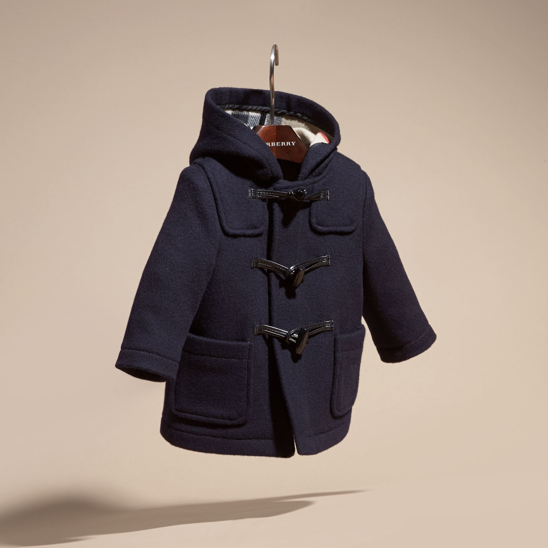 Dark indigo Wool Duffle Coat Dark Indigo - gallery image 3
