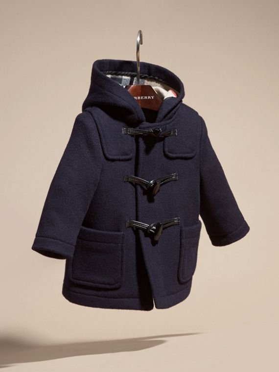 Wool Duffle Coat Dark Indigo - cell image 2