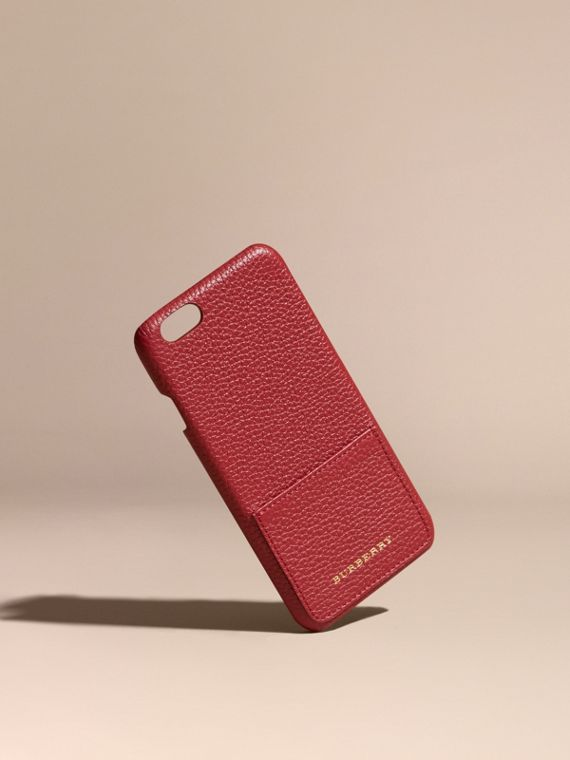 Grainy Leather iPhone 6 Case in Parade Red
