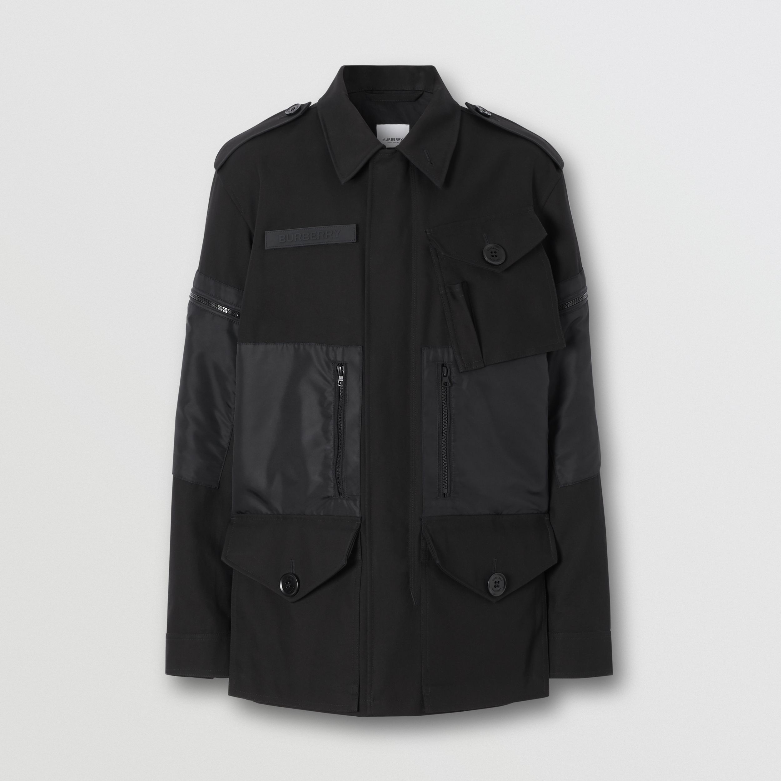 Cotton Gabardine Field Jacket in Black - Men | Burberry - 4
