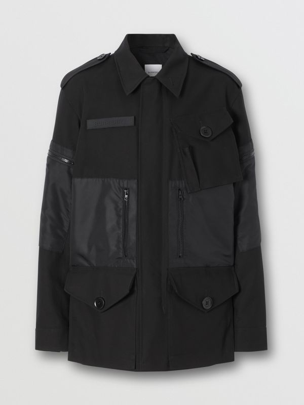 Cotton Gabardine Field Jacket in Black - Men | Burberry Hong Kong S.A.R - cell image 3