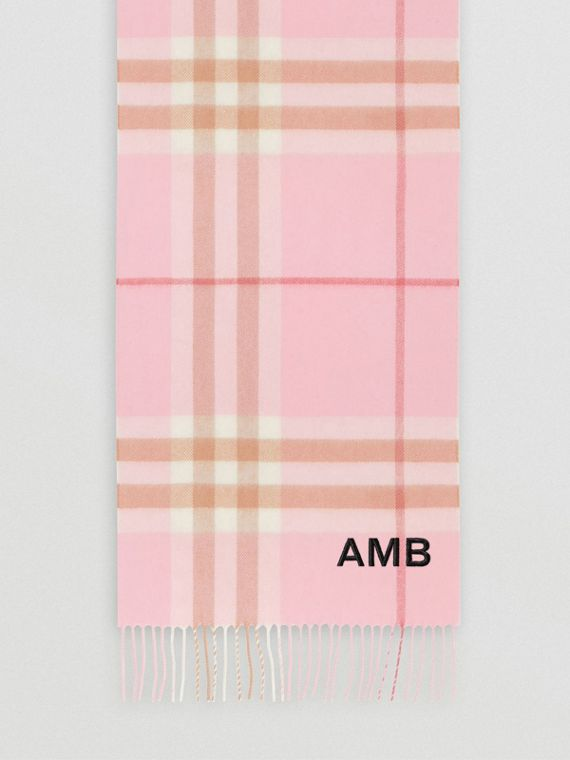 The Classic Check Cashmere Scarf in Candy Pink