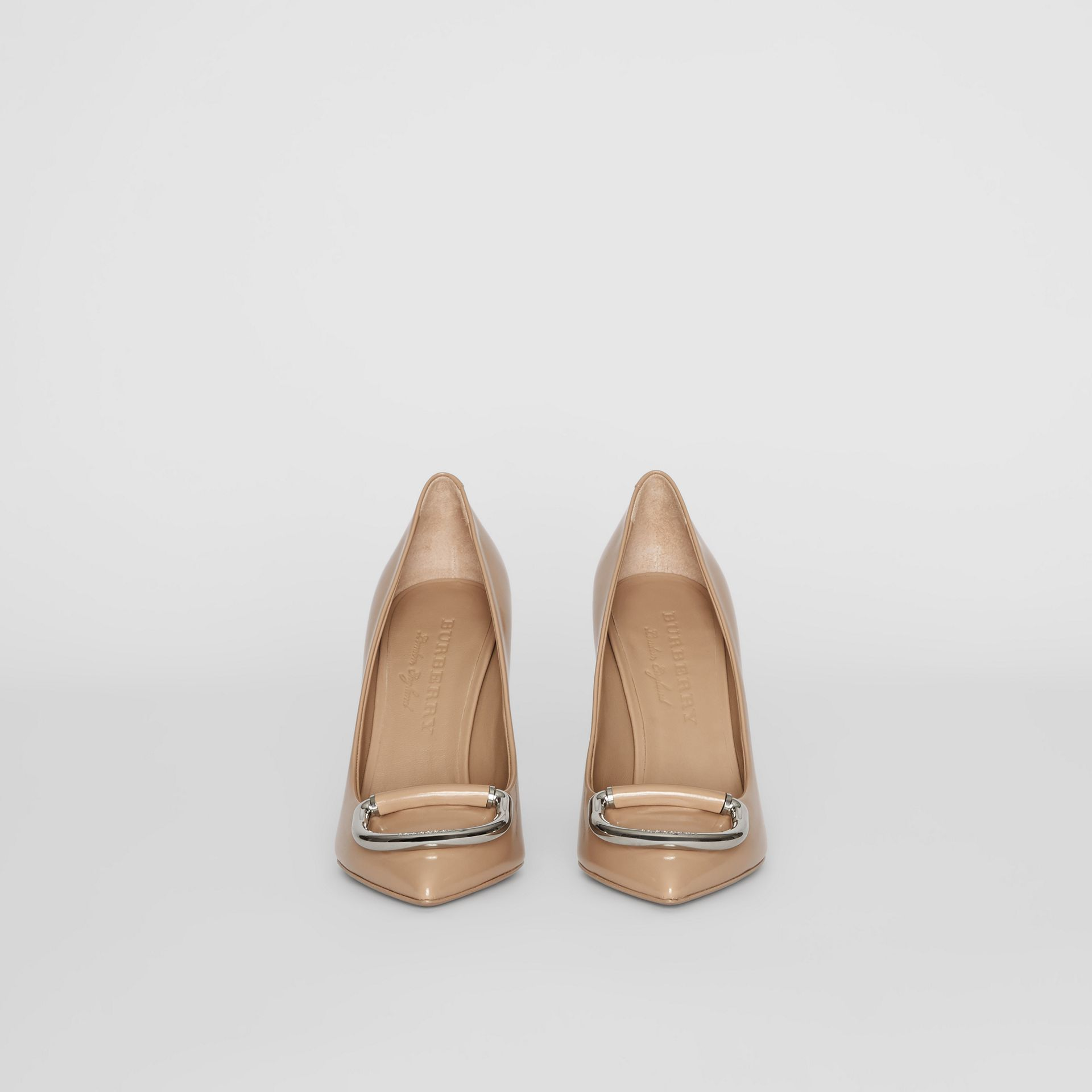 The Leather D-ring Stiletto in Nude Blush - Women | Burberry - gallery image 3