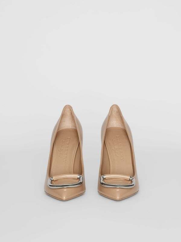 The Leather D-ring Stiletto in Nude Blush - Women | Burberry - cell image 3
