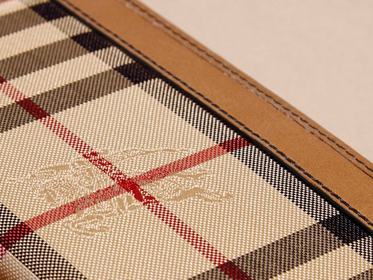 Small Horseferry Check Currency Wallet in Tan - Men | Burberry United Kingdom - cell image 1