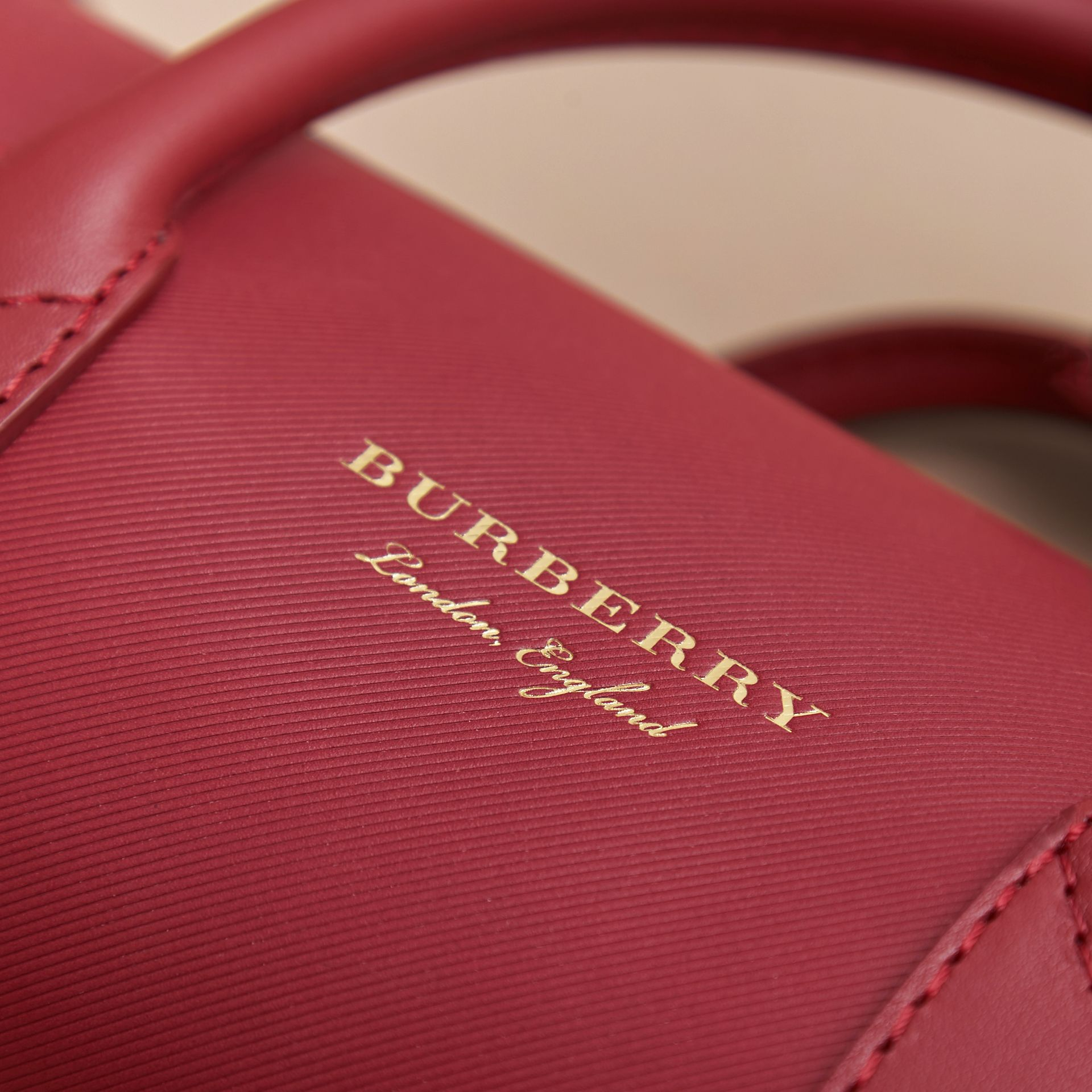 The Small DK88 Barrel Bag in Antique Red - Women | Burberry United States - gallery image 5