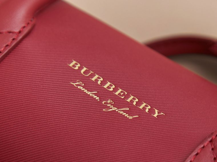 The Small DK88 Barrel Bag in Antique Red - Women | Burberry - cell image 4